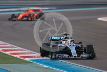 World © Octane Photographic Ltd. Formula 1 – Abu Dhabi GP - Race. Mercedes AMG Petronas Motorsport AMG F1 W10 EQ Power+ - Lewis Hamilton and Scuderia Ferrari SF90 – Charles Leclerc. Yas Marina Circuit, Abu Dhabi, UAE. Sunday 1st December 2019.