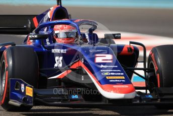 World © Octane Photographic Ltd. FIA Formula 2 (F2) – Abu Dhabi GP - Practice. Carlin - Nobuharu Matsushita. Yas Marina Circuit, Abu Dhabi, UAE. Friday 29th November 2019.