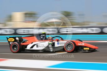 World © Octane Photographic Ltd. FIA Formula 2 (F2) – Abu Dhabi GP - Practice. TMP Motorsport - Mahaveer Raghunathan. Yas Marina Circuit, Abu Dhabi, UAE. Friday 29th November 2019.