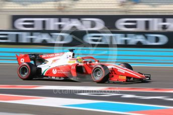 World © Octane Photographic Ltd. FIA Formula 2 (F2) – Abu Dhabi GP - Practice. Prema Racing – Mick Schumacher. Yas Marina Circuit, Abu Dhabi, UAE. Friday 29th November 2019.