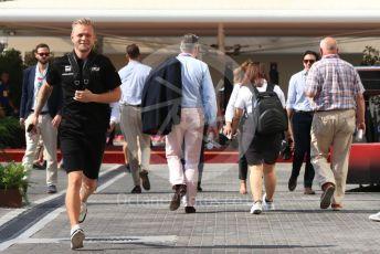 World © Octane Photographic Ltd. Formula 1 – Abu Dhabi GP - Paddock. Haas F1 Team VF19 – Kevin Magnussen. Yas Marina Circuit, Abu Dhabi, UAE. Friday 29th November 2019.