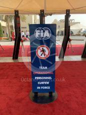 World © Octane Photographic Ltd. Formula 1 – Abu Dhabi GP . FIA Curfew board. Yas Marina Circuit, Abu Dhabi, UAE. Saturday 30th November 2019.
