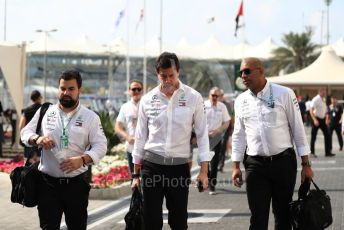 World © Octane Photographic Ltd. Formula 1 - Abu Dhabi GP - Paddock. Toto Wolff - Executive Director & Head of Mercedes - Benz Motorsport. Yas Marina Circuit, Abu Dhabi, UAE. Sunday 1st December 2019.