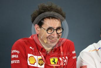 World © Octane Photographic Ltd. Formula 1 - Abu Dhabi GP – Friday FIA Team Press Conference. Mattia Binotto – Team Principal of Scuderia Ferrari. Yas Marina Circuit, Abu Dhabi, UAE. Friday 29th November 2019.