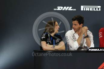 World © Octane Photographic Ltd. Formula 1 - Abu Dhabi GP – Friday FIA Team Press Conference. Claire Williams - Deputy Team Principal of ROKiT Williams Racing and Toto Wolff - Executive Director & Head of Mercedes - Benz Motorsport. Yas Marina Circuit, Abu Dhabi, UAE. Friday 29th November 2019.