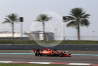 World © Octane Photographic Ltd. Formula 1 – Abu Dhabi Pirelli Tyre Test. Scuderia Ferrari SF90 – Sebastian Vettel. Yas Marina Circuit, Abu Dhabi, UAE. Tuesday 3rd December 2019.
