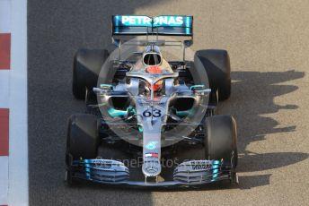 World © Octane Photographic Ltd. Formula 1 – Abu Dhabi Pirelli Tyre Test. Mercedes AMG Petronas Motorsport AMG F1 W10 EQ Power+ - George Russell. Yas Marina Circuit, Abu Dhabi, UAE. Wednesday 4th December 2019.