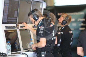 World © Octane Photographic Ltd. Formula 1 – Abu Dhabi Pirelli Tyre Test. ROKiT Williams Racing technical team examine the car data. Yas Marina Circuit, Abu Dhabi, UAE. Wednesday 4th December 2019.