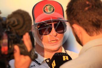 World © Octane Photographic Ltd. Formula 1 – Abu Dhabi GP - Paddock. Alfa Romeo Racing C38 – Kimi Raikkonen. Yas Marina Circuit, Abu Dhabi, UAE. Thursday 28th November 2019.