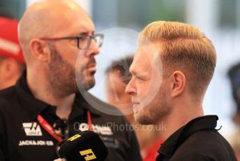 World © Octane Photographic Ltd. Formula 1 – Abu Dhabi GP - Paddock. Haas F1 Team VF19 – Kevin Magnussen. Yas Marina Circuit, Abu Dhabi, UAE. Thursday 28th November 2019.