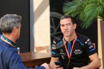World © Octane Photographic Ltd. Formula 1 – Abu Dhabi GP - Paddock. ROKiT Williams Racing FW 42 - Nicholas Latifi. Yas Marina Circuit, Abu Dhabi, UAE. Thursday 28th November 2019.