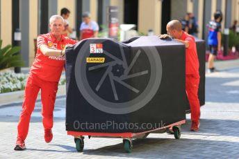 World © Octane Photographic Ltd. Formula 1 – Abu Dhabi GP - Paddock. Scuderia Ferrari pit garage unit. Yas Marina Circuit, Abu Dhabi, UAE. Thursday 28th November 2019.