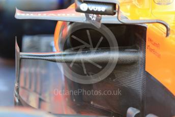 World © Octane Photographic Ltd. Formula 1 – Abu Dhabi GP - Scrutineering. McLaren MCL34 – Carlos Sainz. Yas Marina Circuit, Abu Dhabi, UAE. Thursday 28th November 2019.