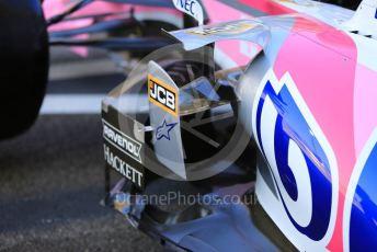 World © Octane Photographic Ltd. Formula 1 – Abu Dhabi GP - Scrutineering. SportPesa Racing Point RP19 - Sergio Perez. Yas Marina Circuit, Abu Dhabi, UAE. Thursday 28th November 2019.