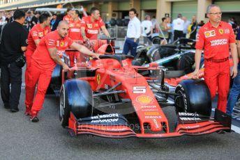 World © Octane Photographic Ltd. Formula 1 – Abu Dhabi GP - Scrutineering. Scuderia Ferrari SF90 – Sebastian Vettel. Yas Marina Circuit, Abu Dhabi, UAE. Thursday 28th November 2019.