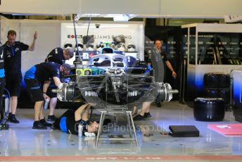 World © Octane Photographic Ltd. Formula 1 – Abu Dhabi GP - Pitlane. ROKiT Williams Racing FW42 – Robert Kubica. Yas Marina Circuit, Abu Dhabi, UAE. Thursday 28th November 2019.