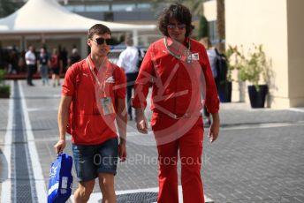 World © Octane Photographic Ltd. Formula 1 - Abu Dhabi GP - Paddock. Callum Ilott – Ferrari Academy. Yas Marina Circuit, Abu Dhabi, UAE. Thursday 28th November 2019.