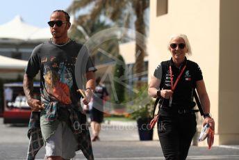 World © Octane Photographic Ltd. Formula 1 – Abu Dhabi GP - Paddock. Mercedes AMG Petronas Motorsport AMG F1 W10 EQ Power+ - Lewis Hamilton. Yas Marina Circuit, Abu Dhabi, UAE. Thursday 28th November 2019.