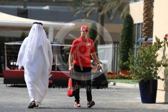 World © Octane Photographic Ltd. Formula 1 - Abu Dhabi GP - Paddock. Mick Schumacher. Yas Marina Circuit, Abu Dhabi, UAE. Thursday 28th November 2019.