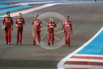 World © Octane Photographic Ltd. Formula 1 – Abu Dhabi GP - Track Walk. Scuderia Ferrari Technical Team. Yas Marina Circuit, Abu Dhabi, UAE. Thursday 28th November 2019.