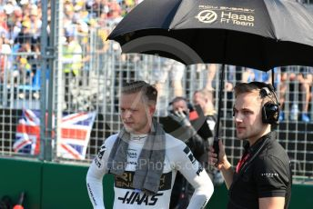 World © Octane Photographic Ltd. Formula 1 – Australian GP Grid. Rich Energy Haas F1 Team VF19 – Kevin Magnussen. Melbourne, Australia. Sunday 17th March 2019.