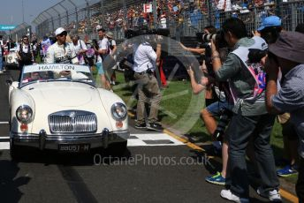 World © Octane Photographic Ltd. Formula 1 – Australian GP Drivers' parade. Mercedes AMG Petronas Motorsport AMG F1 W10 EQ Power+ - Lewis Hamilton. Melbourne, Australia. Sunday 17th March 2019.