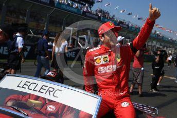 World © Octane Photographic Ltd. Formula 1 – Australian GP Drivers' parade. Scuderia Ferrari SF90 – Charles Leclerc. Melbourne, Australia. Sunday 17th March 2019.