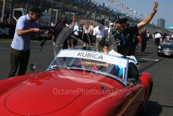 World © Octane Photographic Ltd. Formula 1 – Australian GP Drivers' parade. ROKiT Williams Racing FW42 – Robert Kubica. Melbourne, Australia. Sunday 17th March 2019.