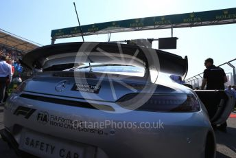 "World © Octane Photographic Ltd. Formula 1 – Australian GP Grid. Mercedes AMG GT Safety car with ""Thank You Charlie"" markings for Charlie Whiting. Melbourne, Australia. Sunday 17th March 2019."