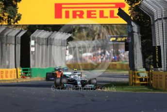 World © Octane Photographic Ltd. Formula 1 – Australian GP Practice 1. Mercedes AMG Petronas Motorsport AMG F1 W10 EQ Power+ - Valtteri Bottas and McLaren MCL34 – Carlos Sainz. Friday 15th Melbourne, Australia. Friday 15th March 2019.