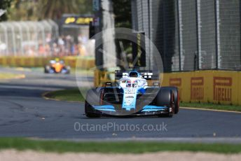 World © Octane Photographic Ltd. Formula 1 – Australian GP Practice 1. ROKiT Williams Racing – George Russell and McLaren MCL34 – Lando Norris.. Friday 15th Melbourne, Australia. Friday 15th March 2019.