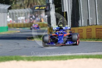 World © Octane Photographic Ltd. Formula 1 – Australian GP Practice 1. Scuderia Toro Rosso STR14 – Alexander Albon and Daniil Kvyat. Friday 15th Melbourne, Australia. Friday 15th March 2019.