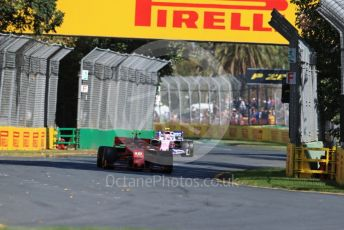World © Octane Photographic Ltd. Formula 1 – Australian GP Practice 1. Scuderia Ferrari SF90 – Charles Leclerc and SportPesa Racing Point RP19 – Lance Stroll. Friday 15th Melbourne, Australia. Friday 15th March 2019.