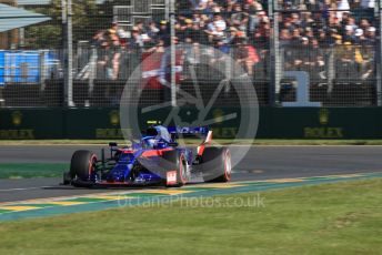 World © Octane Photographic Ltd. Formula 1 – Australian GP Practice 2. Scuderia Toro Rosso STR14 – Alexander Albon. Friday 15th Melbourne, Australia. Friday 15th March 2019.