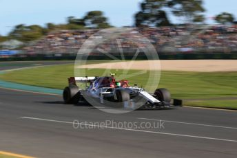 World © Octane Photographic Ltd. Formula 1 – Australian GP Practice 2. Alfa Romeo Racing C38 – Antonio Giovinazzi. Friday 15th Melbourne, Australia. Friday 15th March 2019.