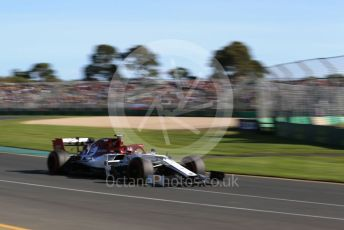World © Octane Photographic Ltd. Formula 1 – Australian GP Practice 2. Alfa Romeo Racing C38 – Kimi Raikkonen. Friday 15th Melbourne, Australia. Friday 15th March 2019.