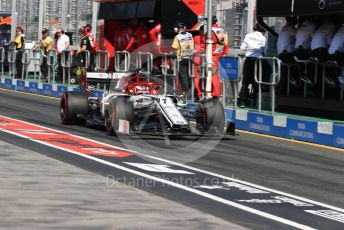 World © Octane Photographic Ltd. Formula 1 – Australian GP Practice 3. Alfa Romeo Racing C38 – Kimi Raikkonen. Saturday 16th Melbourne, Australia. Saturday 16th March 2019.