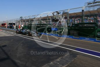 World © Octane Photographic Ltd. Formula 1 – Australian GP Practice 3. Mercedes AMG Petronas Motorsport AMG F1 W10 EQ Power+ - Lewis Hamilton. Saturday 16th Melbourne, Australia. Saturday 16th March 2019.
