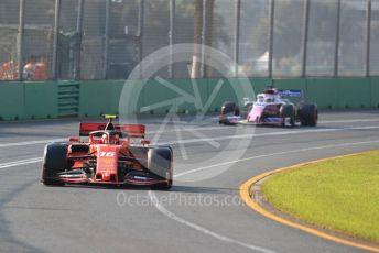World © Octane Photographic Ltd. Formula 1 – Australian GP Qualifying. Scuderia Ferrari SF90 – Charles Leclerc and SportPesa Racing Point RP19 - Sergio Perez. Melbourne, Australia. Saturday 16th March 2019.