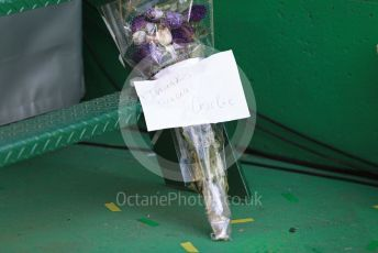 World © Octane Photographic Ltd. Formula 1 – Australian G. Flowers for Charlie Whiting. Melbourne, Australia. Sunday 17th March 2019.