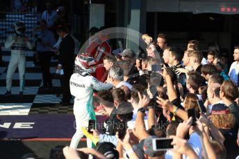 World © Octane Photographic Ltd. Formula 1 – Australian GP Parc Ferme. Mercedes AMG Petronas Motorsport AMG F1 W10 EQ Power+ - Lewis Hamilton. Melbourne, Australia. Sunday 17th March 2019.