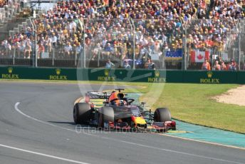 World © Octane Photographic Ltd. Formula 1 – Australian GP Race. Aston Martin Red Bull Racing RB15 – Max Verstappen. Melbourne, Australia. Sunday 17th March 2019.