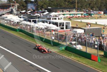 World © Octane Photographic Ltd. Formula 1 – Australian GP Race. Scuderia Ferrari SF90 – Sebastian Vettel. Melbourne, Australia. Sunday 17th March 2019.