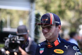 World © Octane Photographic Ltd. Formula 1 – Australian GP FIA Driver photo call. Aston Martin Red Bull Racing RB15 – Max Verstappen. Thursday 14th Melbourne, Australia. Thursday 14th March 2019.
