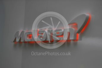 World © Octane Photographic Ltd. Formula 1 – Australian GP Paddock. Friday 15th Melbourne, Australia. McLaren logo. Friday 15th March 2019.