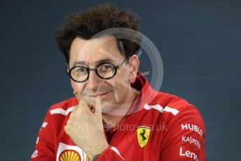World © Octane Photographic Ltd. Formula 1 - Australian GP – Friday FIA Team Press Conference. Mattia Binotto – Team Principal of Scuderia Ferrari. Albert Park, Melbourne, Australia. Friday 15th March 2019