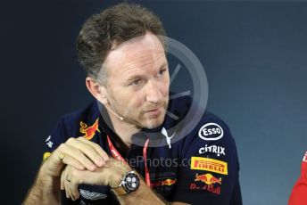 World © Octane Photographic Ltd. Formula 1 - Australian GP – Friday FIA Team Press Conference. Christian Horner - Team Principal of Red Bull Racing. Albert Park, Melbourne, Australia. Friday 15th March 2019