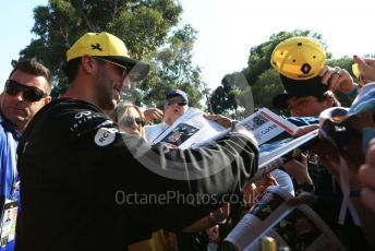 World © Octane Photographic Ltd. Formula 1 – Australian GP Paddock. Renault Sport F1 Team RS19 – Daniel Ricciardo. Saturday 16th Melbourne, Australia. Saturday 16th March 2019.
