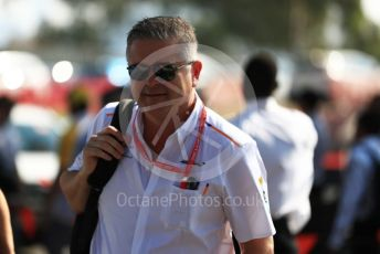 World © Octane Photographic Ltd. Formula 1 - Australian GP - Melbourne Walk. Gil De Ferran - Sporting Director of McLaren. Albert Park, Melbourne, Australia. Sunday 17th March 2019