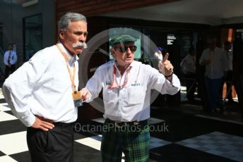 World © Octane Photographic Ltd. Formula 1 - Australian GP - Paddock. Chase Carey - Chief Executive Officer of the Formula One Group and Sir Jackie Stewart. Albert Park, Melbourne, Australia. Sunday 17th March 2019